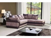 WOW OFFER: DINO CORNER SOFA LEFT OR RIGHT HAND SIDE /JAMBO COARD FABRIC = ALSO 3 AND 2 SEATER AVAIBL