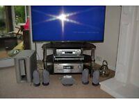 Sony Micro Satellite Speaker System SA-VE835ED withSony STR-DB790 Silver AV Receiver.