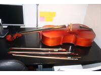 Musima 3/4 sized cello with bows