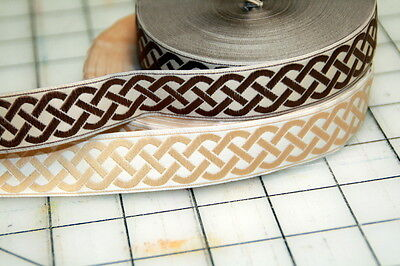 (Celtic Knot Fabric Trim 7/8 inch Wide by the yard)