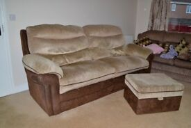 4-Seater Settee and Matching Stool
