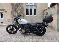 Like new Yamaha XV950 - 1,152 miles - 6 months tax - 2+ years MOT - Givi top box - back rest