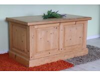 QUALITY MADE SOLID PINE BLANKET BOX LIGHT COLOUR WAXED FINISH - CAN DELIVER