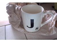Brand new Scrabble mug, letter J