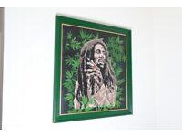 Bob Marley painting in acrylic