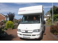 Eldiss Suntor Motorhome. 2007. Only 20000 miles Very Good Condition.