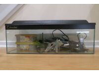 Complete tropical aquarium set (2ft) - just add water and fish!