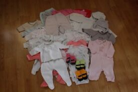 Bundle of Baby Girl Clothes Newborn up to 3 months