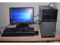 Dell Optiplex Full Desktop PC, i3 Quad Core CPU, 500GB+250GB HDD, 8GB Ram, HD Graphics, WiFi Win 10