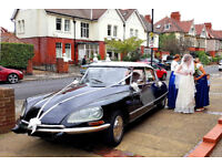 Classic Citroën DS available for your Wedding Day.