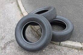 Rolls Royce Silver Shadow Tyres X 3 Avon Turbosteel 235/70R15 *** In Excellent Used Condition ***