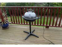 GEORGE FOREMAN ELECTRIC BBQ AND STAND