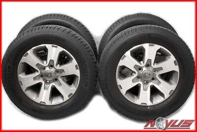 """18"""" FORD F150 EXPEDITION FX4 FX2 OEM MACHINED WHEELS MICHELIN TIRES 17"""