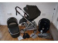 Mamas and Papas Urbo 2 Khaki pram pushchair with car seat 3 in 1 travel system