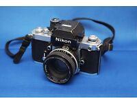 Nikon F2as Film Camera plus 50mm f1.8 lens