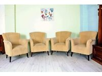5 LOUNGE/RECEPTION CHAIRS IDEAL FOR HOTEL RECEPTION, B & B, OFFICE - CAN COURIER