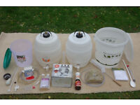 Home brewing kit including an additional barrel and other extras