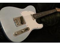 TELECASTER DAPHNE BLUE Fender Strings pro set up rosewood fretboard