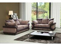 Furniture-NEW DINO JUMBO CORD FABRIC LEFT OR RIGHT CORNER OR 3+2 SOFA SET -CALL NOW