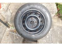 Un-used Presto Debica tyre on wheel