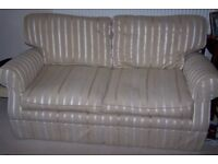 A Laura Ashley Settee in Luxford Stripe, as new.