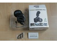 Rode Stereo Videomic Pro NEW Microphone for DSLR Canon, Nikon, Sony Video camera and Sound recorder