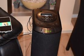 MUSIC TOWER 60W IPO DOCK/SD/RADIO AUX IN PAY PHONE MUSIC CAN SEE WORKING