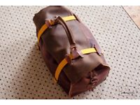 Natural Leather Duffle bag + Strap