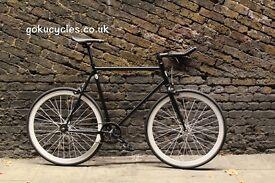 Special Offer GOKU CYCLES Steel Frame Single speed road bike TRACK bike fixed gear fixie bike w5