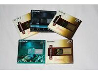 5 x Blank Minidiscs (Brand New & Unopened)
