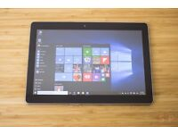 lenovo ideapad 10.1 inch windows 10 tablet and charger and SD card £55