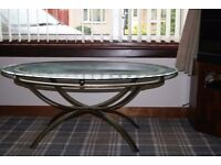 Occasional Oval Glass Table