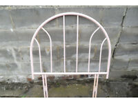 Pink Single Metal Headboard