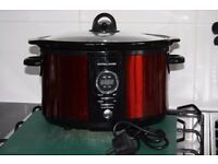 SLOW COOKER Brand New. Andrew James 5 litre Premium Digital Red with removable Ceramic Inner Bowl