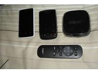 NOW TV BOX , GOOGLE PHONE , BLACKBERRY 9800