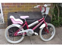 "Girls' pink bike 20"" wheels - Ammaco Little Sweetheart"