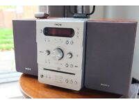 Sony micro hi-fi component system with DAB radio