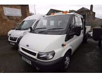 FORD TRANSIT T-350 DOUBLE CAB 100 TIPPER – 55-REG