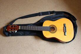 3/4 Sized Acoustic Guitar + Soft Case