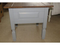 Corona pine and grey lamp table or coffee table