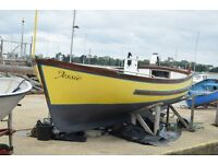 Tamar 2000 inshore fishing boat / Launch. Inboard diesel engine and auxillary outboard.