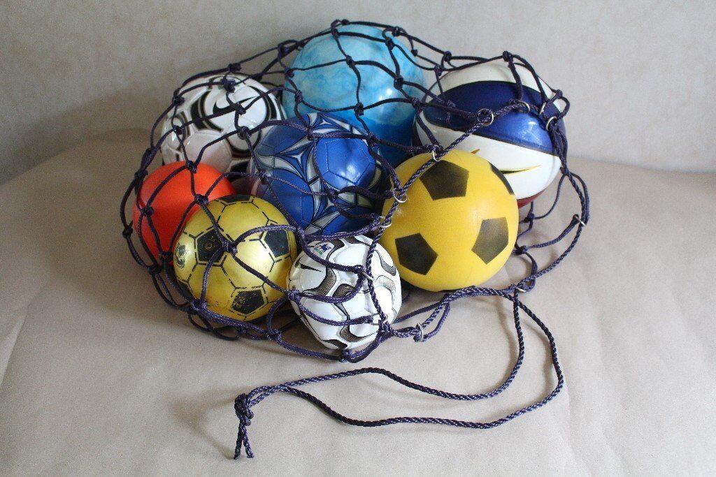 ball bag and 8 assorted balls