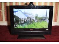 SANYO 26 INCH HDMI FREE VIEW TV WITH STAND AND NEW SEALED REMOTE
