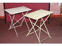 For sale - 2 x lovely retro/vintage/cafe/bistro metal folding tables