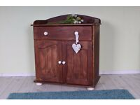 SOLID PINE BABY CHANGE UNIT SHABBY CHIC PAINTING PROJECT BUN FEET - CAN DELIVER