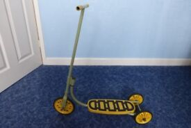 Raleigh childs vintage Scooter, metal construction.lovely condition