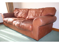 Marks & Spencer 3 seat leather sofa