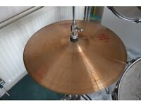 """Paiste 2002 Top Heavy 14"""" Hi Hat with stand Used but great sound"""