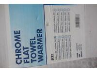 Chrome Flat Towel Warmer Radiator 700mm x 450mm 70cm x 45cm Brand New Never used