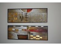 Set of 3 Paintings in floating box frames